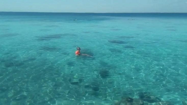 Swiming at Cueva de los Peces