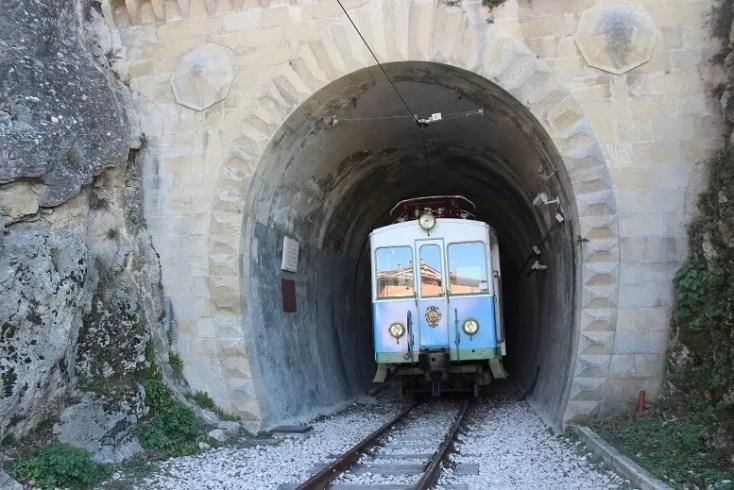 The locomotive of the train from Rimini to San Marino
