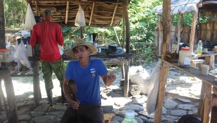 Making coffee, Trinidad