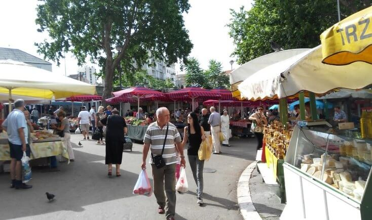 Market in Split, Croatia
