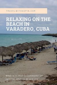 Relaxing on the beach in Varadero Cuba