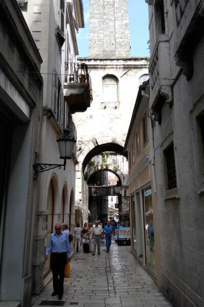 On the streets of Split, Croatia