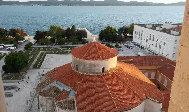 Zadar seen from the tower, Croatia