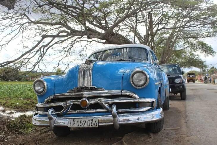 Random blue vintage car