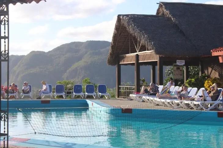 Pool of Hotel Los Jasmines