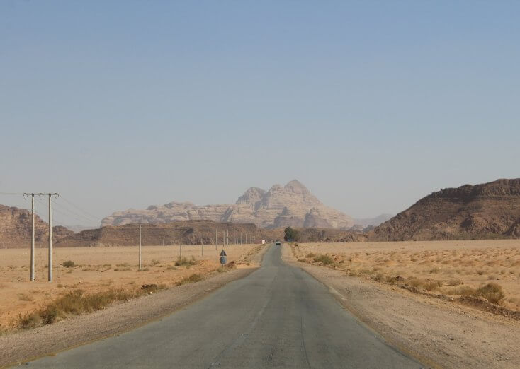 Road to Wadi Rum, Jordan