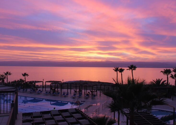 Sunset at the Dead Sea, Jordan