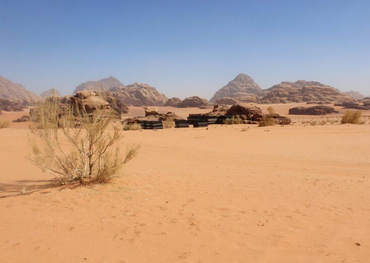 Camp in Wadi Rum, Jordan