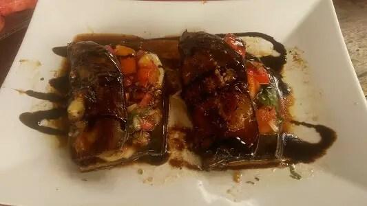 The best eggplants ever - small part of the breakfast at Casa Nini, Havana
