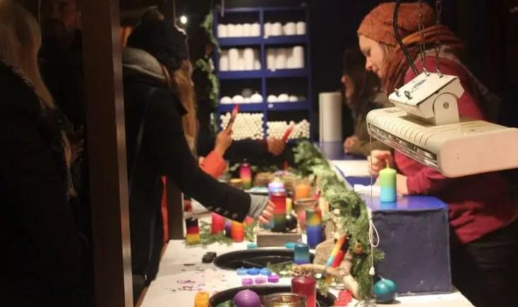 DIY candles Christmas market