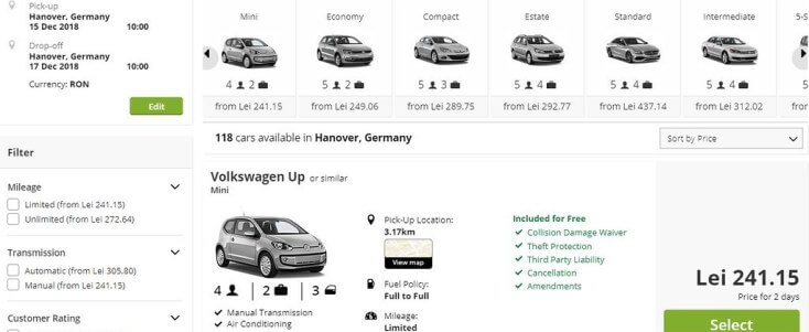 Without Voucher City Car rent