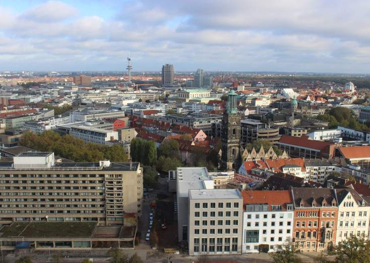 Hanover seen from the tower of the New Cityhall, Germany