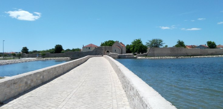 Vechiul oras Nin aflat pe o insulita, Croatia