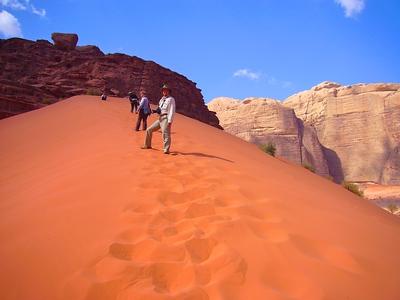 Red sands of the Wadi Rum desert