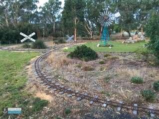 Tiny Train Park track at Big4 Naracoorte Holiday Park