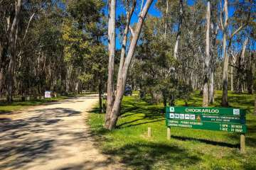 Chookarloo Campground Entrance