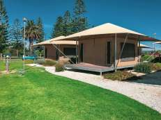 Big4 West Beach Holiday Park - rear of Eco Tents