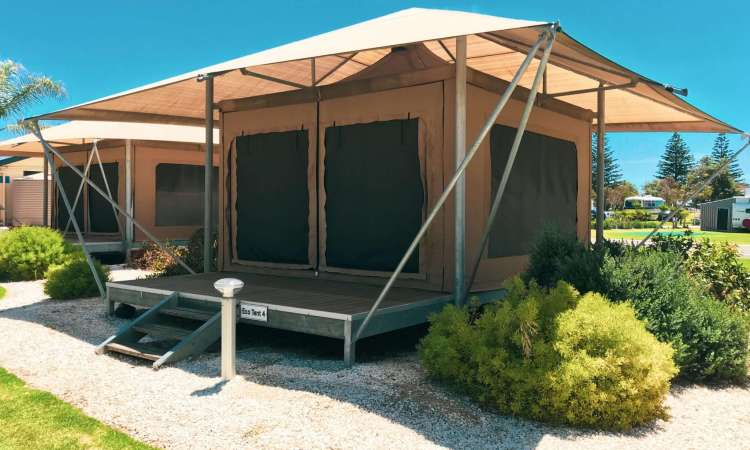 Eco Tents at Big4 West Beach