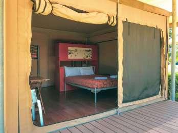 Inside Big4 West Beach Eco Tent