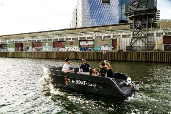 On A Boat Boat Hire Docklands Melbourne