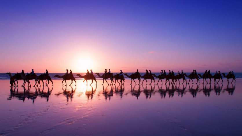 Sunset at Cable Beach, Broome - one of Western Australia's best beaches
