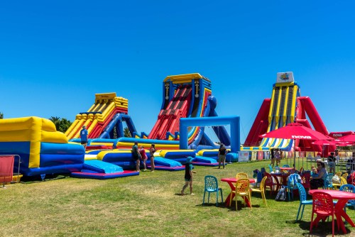 Adelaide Outdoor Inflatable Water Park Slides