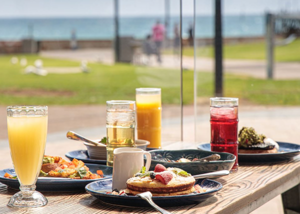 The Grand Bar, Glenelg, part of Stamford Hotel, water front dining Glenelg, breakfast served with a waterfront view