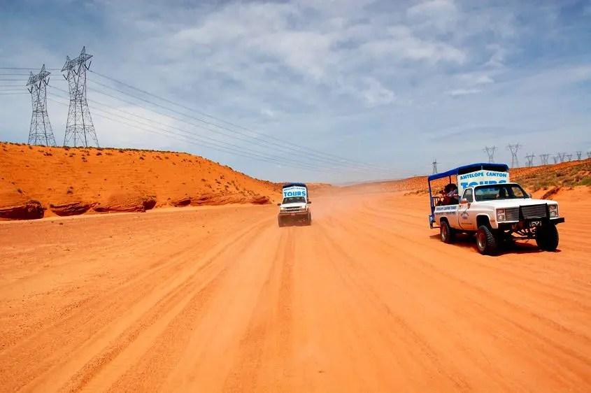 Antelope Canyon inizio tour