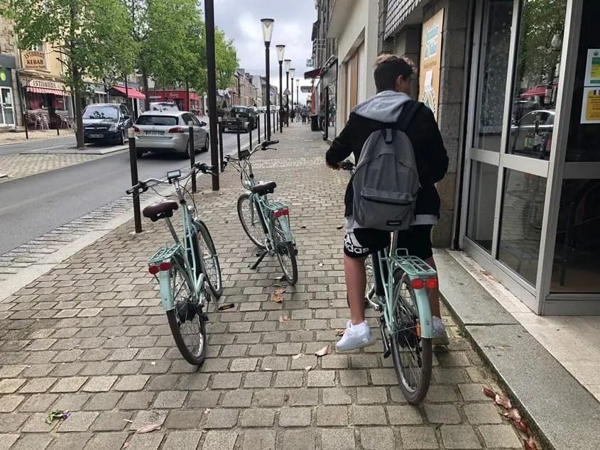 biciclette elettriche noleggiate a Pontorson per andare a Mont Saint-Michel