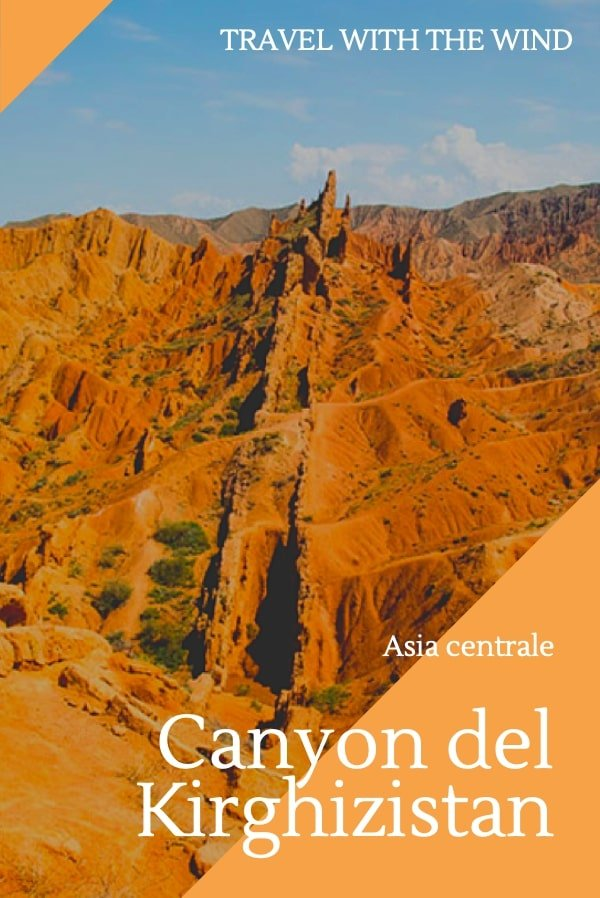 I canyon del Kirghizistan