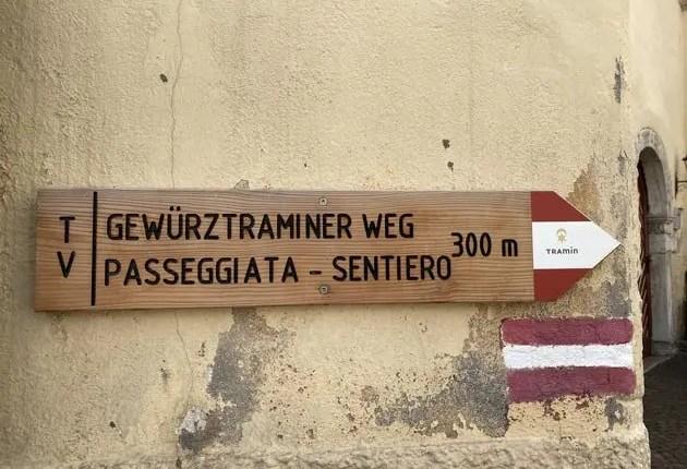 Sentiero del Gewürztraminer