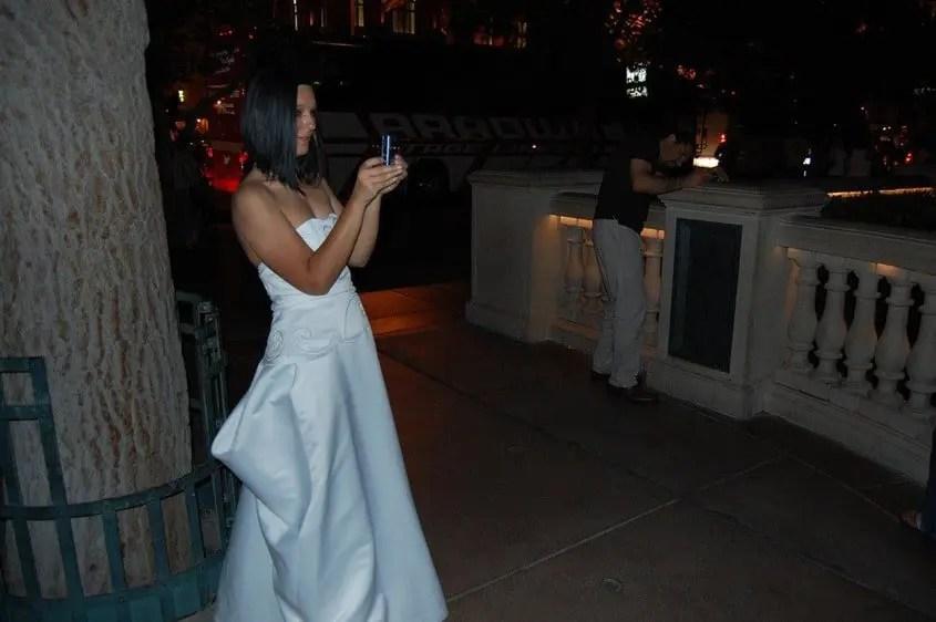 Foto scattata dalla sposa