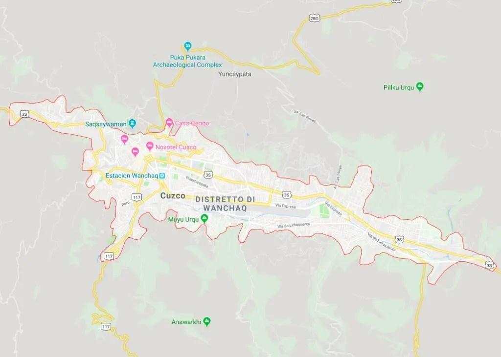 mappa di cusco