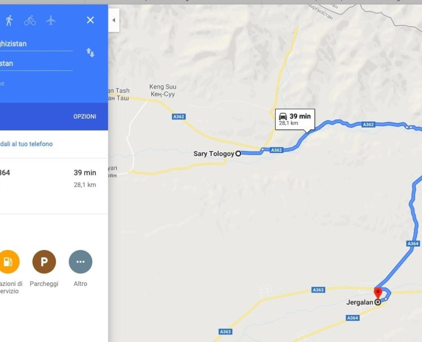 screenshot mappa Kirghizistan