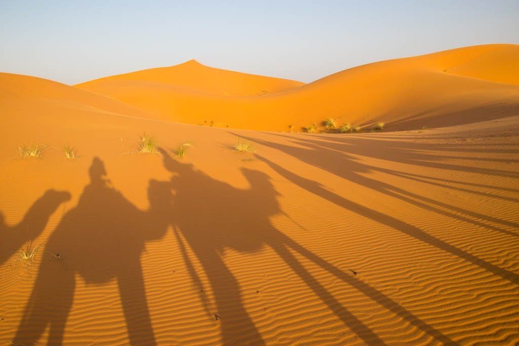 fotografia in viaggio: ombre lunghe