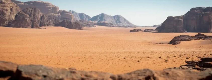 Panorama lunare al Wadi Rum