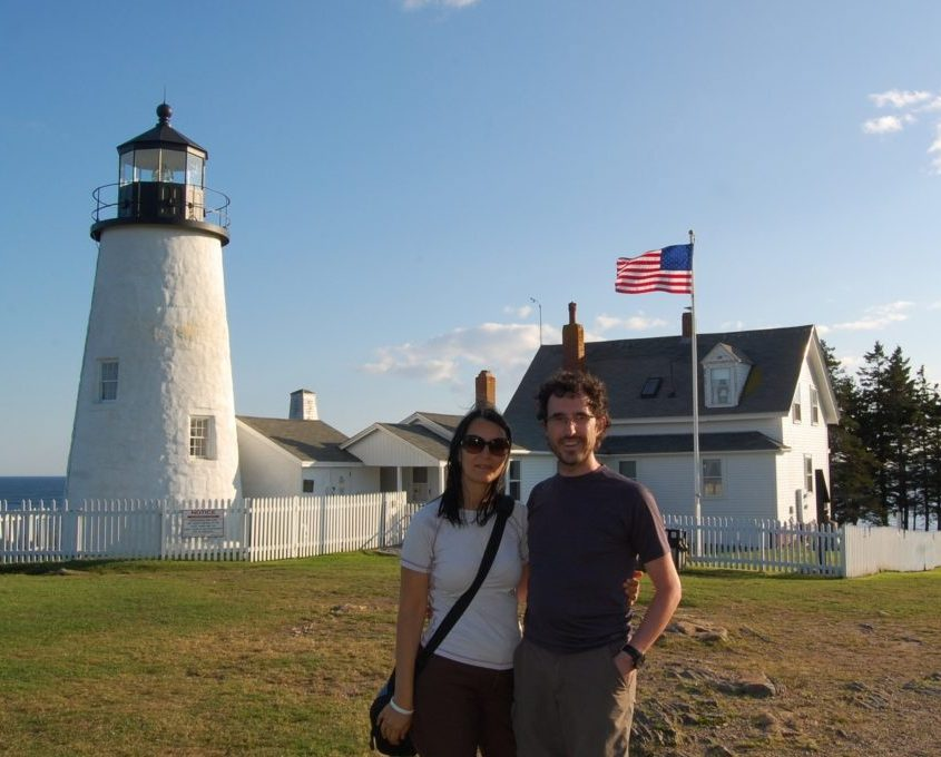 Claudia e Gabri al pemaquid lighthouse