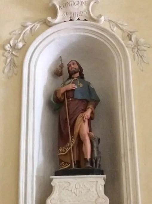 Statua di San Rocco a Prascondù