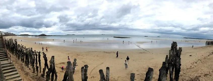 la spiaggia di Saint Malo