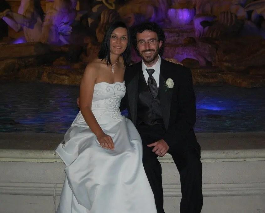 Claudia e Gabri davanti al Bellagio