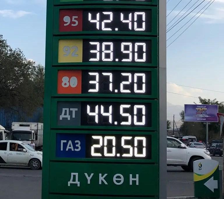 tabellone benzinaio
