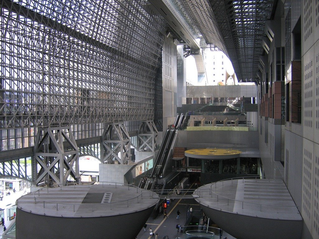 Interno della stazione di Kyoto
