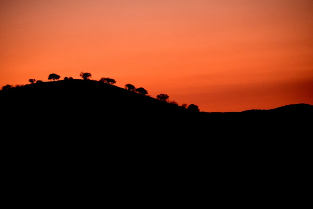 tramonto in namibia