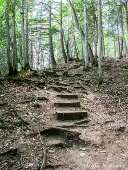Indian Falls steep staircase