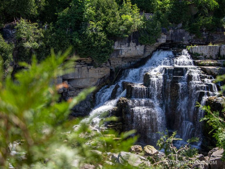 Grey County Waterfall Tour at Inglis Falls Conservation Area viewpoint