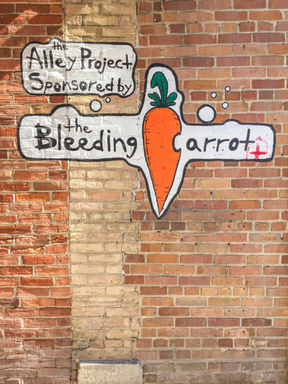 Owen Sound's Alley Project Sponsored by The Bleeding Carrot