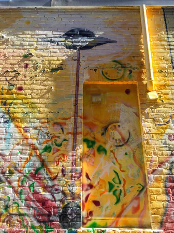 Psychedlic Owen Sound urban art in downtown