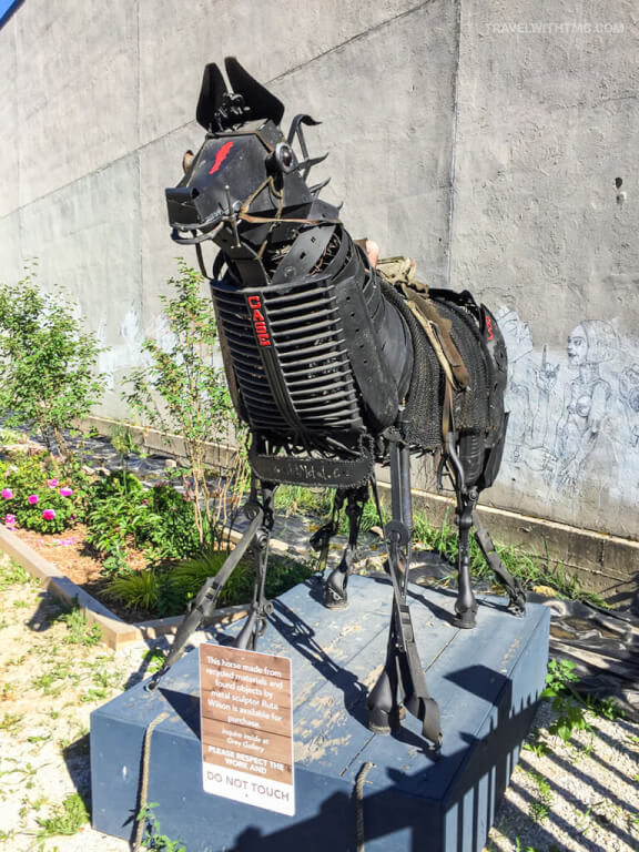 Public Art Horse in Owen Sound downtown