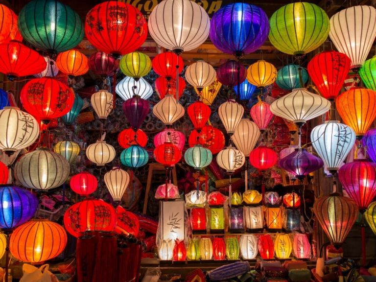 There are a lot of lanterns in this photo!