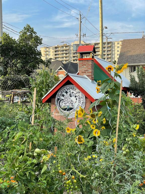 Community Clay Bake Oven in Queen's Green Community Garden Kitchener